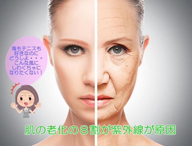光老化が原因で肌が老化する