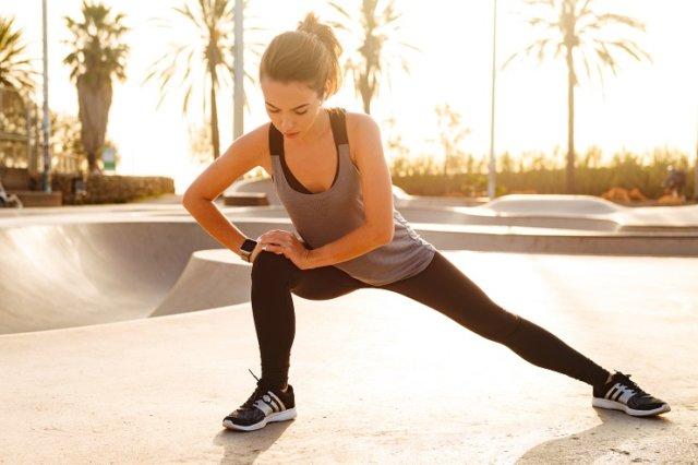 適度な運動をしている女性