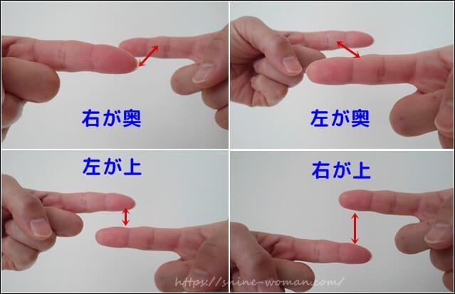 指で体の歪みチェック